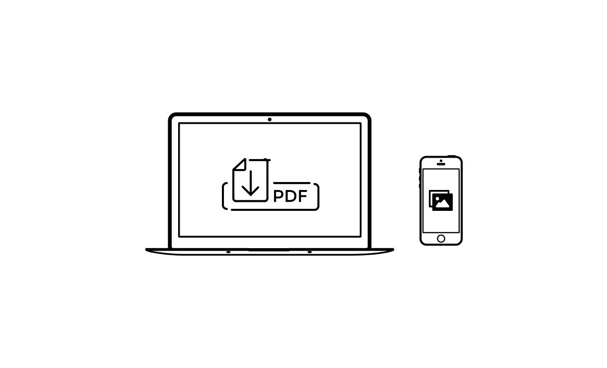 PDFダウンロードもしくは画像を保存